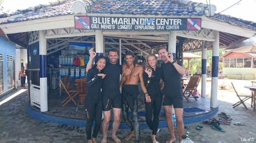 With our instructor Nico, from Blue Marlin Dive Gili Meno
