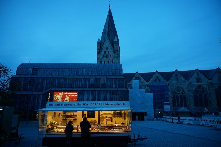Butcher's stuck in front of the Cathedral